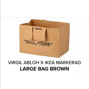 "IKEA x Virgil Abloh Markerad ""Sculpture"" Tote Bag"